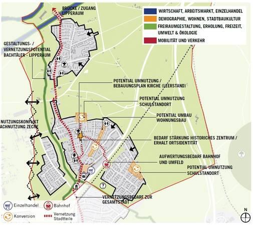 Hamm Karte.Stadt Marl Marl Hamm